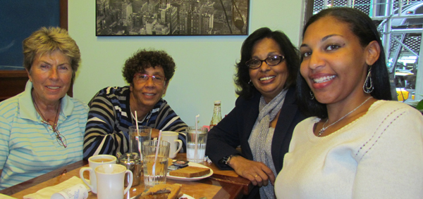 Damar, Ika, Rosemarie Pena, president, Black German Heritage and Research Association and her friend Cheria